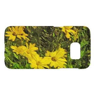 Arrowleaf Balsamroot Yellow Wildflower Abstract