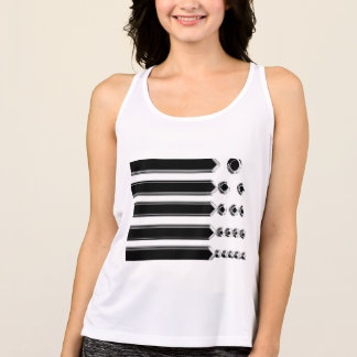 Arrows and Dots Abstract Design Tank Top