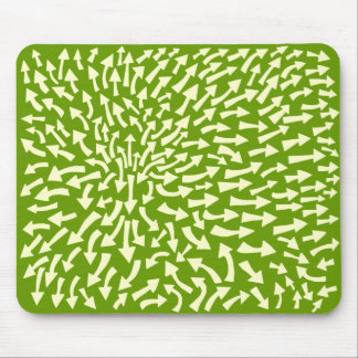 Arrows - Cream on Green 669900 Mouse Pad
