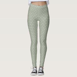 Arrows Grey Color Scheme Leggings