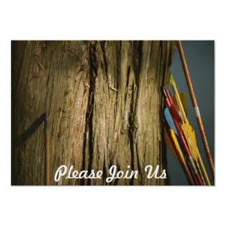 Arrows Leaning on a Tree Forestry 13 Cm X 18 Cm Invitation Card