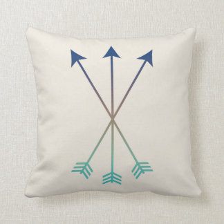 Arrows Modern Tribal Watercolor Art Navy and Blue Cushion