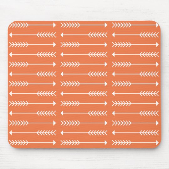 Arrows Mouse Pad, Vintage Orange Mouse Mat