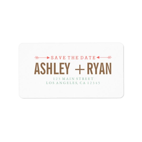 Arrows Save the Date Address Label