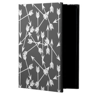 Arrows Scattered / Grey White / Andrea Lauren iPad Air Cover