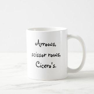 Arrows, scissor rose Cicero's. Basic White Mug
