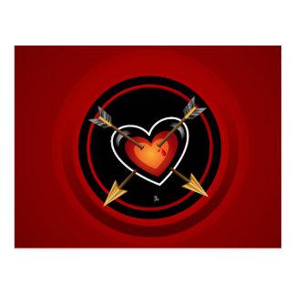 Arrows Through The Heart Postcard