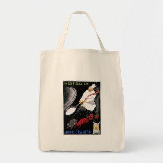 Arroz Granito Vintage Food Ad Art Canvas Bags