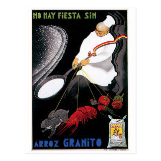 Arroz Granito Vintage Food Ad Art Postcard