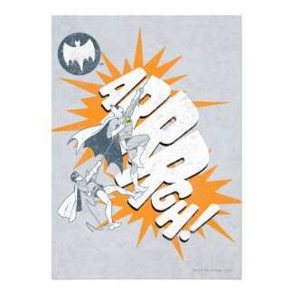 ARRRGH Batman And Robin Climb Graphic Personalized Invitations