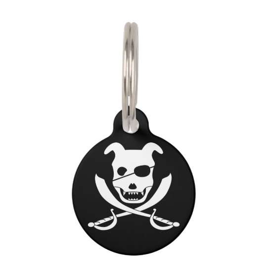 Arrrr it's the doggy roger! pet ID tag