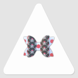 ARRRR Matey! 3D Pirate Bow Triangle Sticker