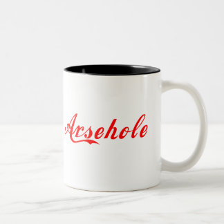Arsehole Mug Red Lettering