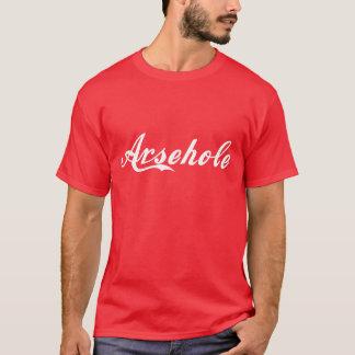 Arsehole T Shirt - White Lettering