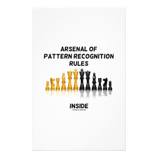 Arsenal Of Pattern Recognition Rules Inside Chess Stationery Paper