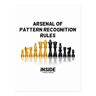 Arsenal Of Pattern Recognition Rules Inside Postcard