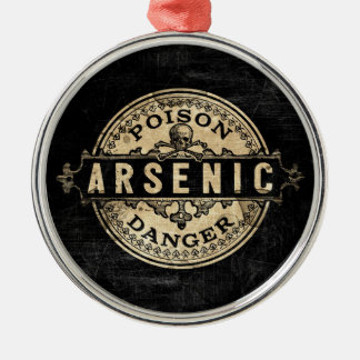 Arsenic Vintage Style Poison Label Christmas Ornament