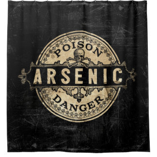 Arsenic Vintage Style Poison Label Shower Curtain