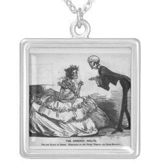 arsenic waltz square pendant necklace