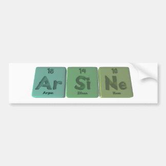 Arsine-Ar-Si-Ne-Argon-Silicon-Neon Bumper Sticker