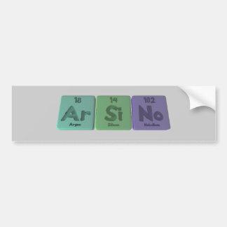 Arsino-Ar-Si-No-Argon-Silicon-Nobelium Bumper Sticker