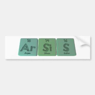 Arsis-Ar-Si-S-Argon-Silicon-Sulfur Bumper Sticker