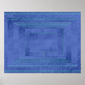 Art101 Artistic Satin Silk Dark Blue Decoration Poster