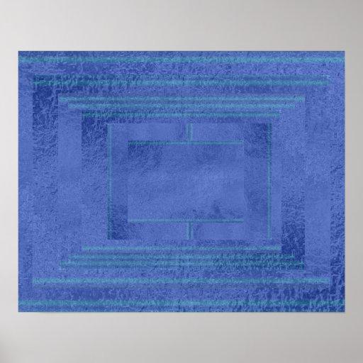 Art101 Artistic Satin Silk Dark Blue Decoration Print