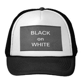 Art101 BNW Circles n Text Samples - White on Black Cap