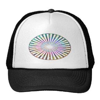 ART101 Fashion : CHAKRA Blue Pink Round and Ovals Hat