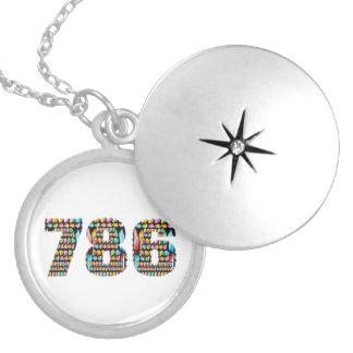 Art101  HappyBirthday Lucky 786 Memorial Edition Round Locket Necklace