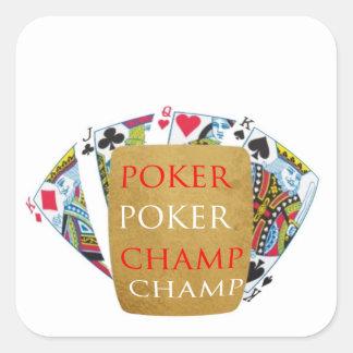 ART101  Poker Champ  - Art n Designer Text Sticker