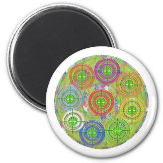 ART101 Red Bull Target Practice 6 Cm Round Magnet