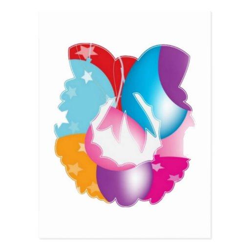ART101 - Stars n Baloons Wreath Cutout Postcard