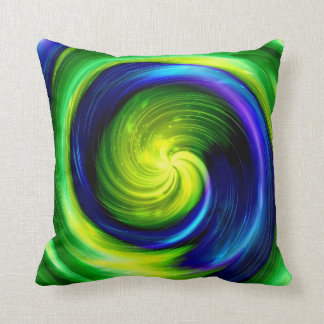 Art Abstract colorful spiral 6 Cushion