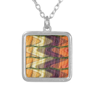 Art abstract from Colorful organic farm carrots 99 Personalized Necklace