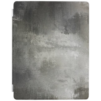 art abstract grunge black and white textured iPad cover