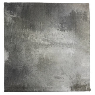 art abstract grunge black and white textured napkin