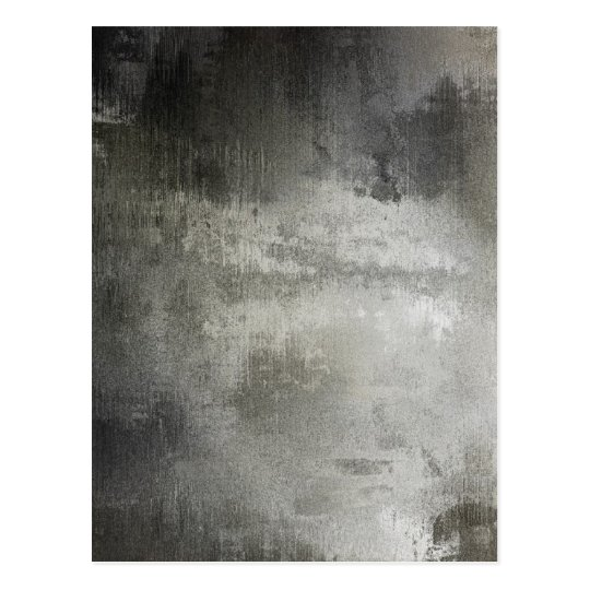 art abstract grunge black and white textured postcard