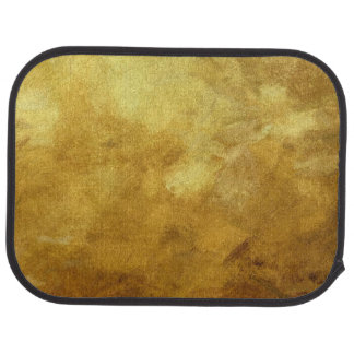 art abstract painted background in golden color car mat
