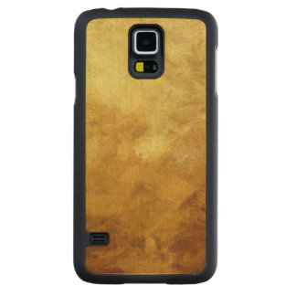 art abstract painted background in golden color carved maple galaxy s5 case