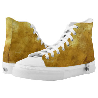 art abstract painted background in golden color high tops