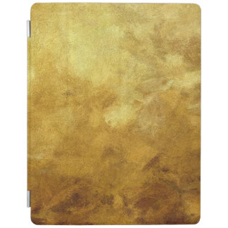 art abstract painted background in golden color iPad cover