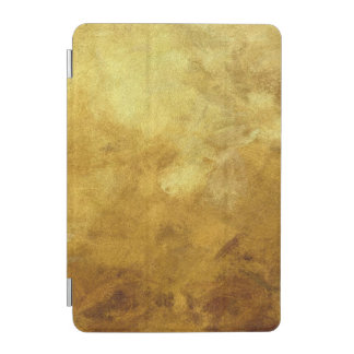 art abstract painted background in golden color iPad mini cover