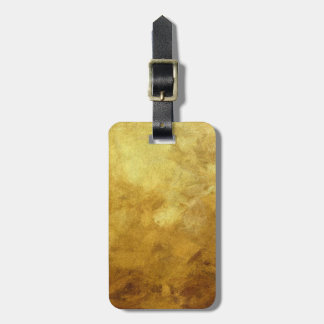 art abstract painted background in golden color luggage tag