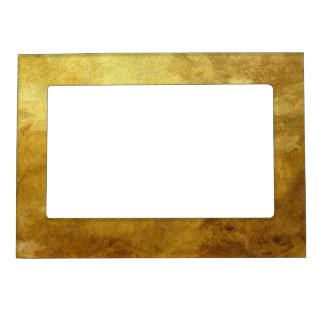 art abstract painted background in golden color magnetic picture frame