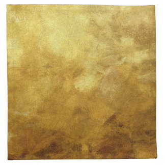 art abstract painted background in golden color napkin