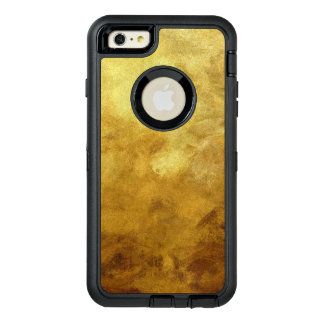 art abstract painted background in golden color OtterBox defender iPhone case