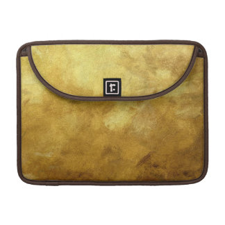 art abstract painted background in golden color sleeve for MacBook pro