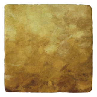 art abstract painted background in golden color trivet